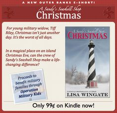 A Sandy's Seashell Shop Christmas. New E-short from National Bestselling Author, Lisa Wingate. Only and proceeds will help fund a donation to Operation Military Kids, which serves military kids while their parents are deployed! Great Books, My Books, Books To Read, Beach Reading, Happy Reading, Prayer Box, Inspirational Books, Youre Invited, Bestselling Author
