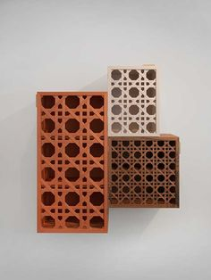 Modules de rangement Cannage (India Mahdavi).