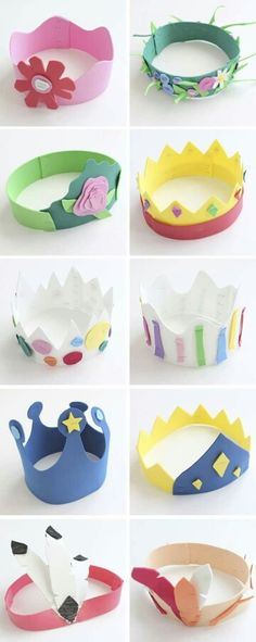 Crowns Ideas For Kids Crafts Kids Crafts, Foam Crafts, Toddler Crafts, Preschool Crafts, Projects For Kids, Diy For Kids, Diy And Crafts, Craft Projects, Arts And Crafts