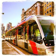 El tranvía de pruebas por #Zaragoza