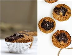 Coffee Muffins with a Chocolate Heart