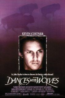 """""""Dances With Wolves"""" (dir. Kevin Costner, 1990) --- Lt. John Dunbar (Kevin Costner), exiled to a remote western Civil War outpost, befriends wolves and Indians, making him an intolerable aberration in the military. Based on the novel by Michael Blake."""