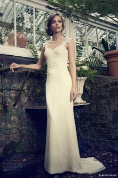 elbeth gillis bridal 2014 zelda wedding dress embroidered straps