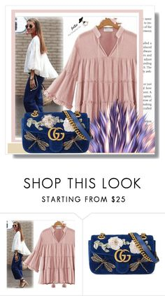 """""""JetSetshop 2"""" by k-lole ❤ liked on Polyvore featuring Gucci, flare and casualstyle"""