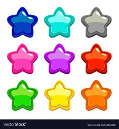 Colorful star icons, assets for web or game design, GUI elements, isolated on white Illustration , Classroom Birthday, Classroom Decor, Diy Straw, Autism Learning, Birthday Charts, Star Students, Blog Backgrounds, Birthday Clipart, Good Notes