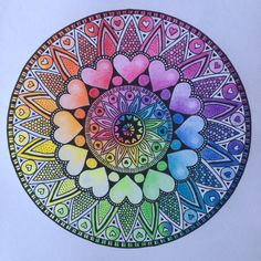 Mandala n°1 colorié #mandala #zentangle