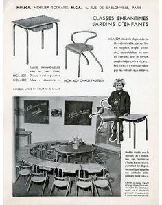 mobilier scolaire MULLCA via Intérieurs
