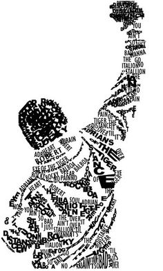 Very cool! Made up of quotes and names from Rocky.