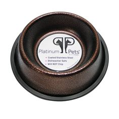 Platinum Pets 4 Cup Non-Embossed Non-Tip Dog Bowl, Copper Vein => Startling review available here  : Feeding and Watering Supplies