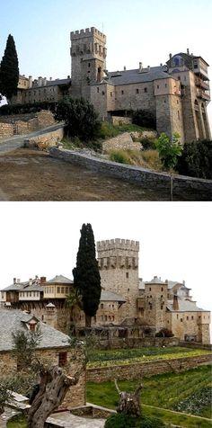 Stavronikita Monastery at Mount Athos, Greece
