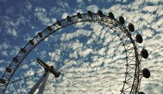 """""""Big Eye"""" in London.  There were many couples, but I rode alone :-)"""