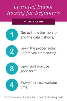 Alicia R. Clark | Getting a new workout machine is much like getting a new toy on Christmas. There's so much excitement and anticipation to try it out! Rowing is such a great workout, but it can be overwhelming learning everything that goes with it. Here's a guide to get you started in the right way! #rowing #infographic #fitnessinfographic #rowingforbeginners Rowing Machines, Workout Machines, Fitness Infographic, Rowing Workout, Indoor Rowing, Great Videos, Workout Videos, Toy, Learning