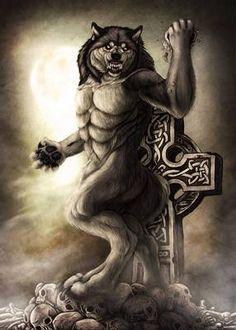 Lunar Cycle's Peak by Saoirsa on DeviantArt Fantasy Wolf, Fantasy Warrior, Fantasy Art, Furry Wolf, Furry Art, Fantasy Creatures, Mythical Creatures, Apocalypse, Anime Wolf Drawing