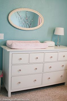 ikea hemnes dresser as changing table