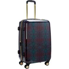 "Aimee Kestenberg Ivy 24"" Upright Spinner Suitcase, Midnight Python"