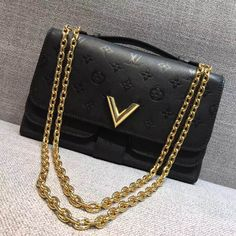 Louis Vuitton Very Chain Bag M42899 Black 2017