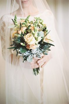 Vintage meets rustic bouquet: http://www.stylemepretty.com/2015/02/05/romantic-cultural-infused-swedish-wedding/ | Photography: 2 Brides - http://2brides.se/