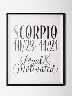 Scorpio Fun Print