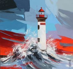 """Résultat de recherche d'images pour """"pierrick tual - pecherie"""" Main Theme, Art Plastique, Brittany, Lighthouse, Printmaking, Abstract Art, Contemporary, Landscape, Normandy"""