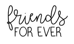 friends forever free card sentiment