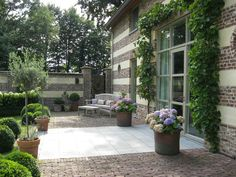 elegant patio and garden