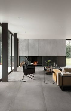 Prima Materia Cemento 180 x 80 Flooring, Interior Design, Home, House Flooring, Apartment Design, Living Room Tiles, Terrazzo Flooring, Home Decor, Living Room Designs