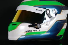 Designed by Lasse Weis. Handcrafted with passion. #helmade #withpassion #bornfrommotorsports #helmetdesign #custom #helmet #design #helmdesign #karting #racing #awhitehelmetisamissedopportunit