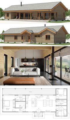 Architecture Home Plans, Plan de Maison, Maisons, Dream House Plans, Modern House Plans, Small House Plans, House Floor Plans, Affordable House Plans, Affordable Housing, Casas Containers, House Layouts, Residential Architecture