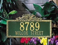 Whitehall Products Ivy Standard Decorative Aluminum Address Plaque by Whitehall. $89.99. For nearly 70 years, Whitehall Products has been crafting personalized name and Aluminum Address Plaques to provide a distinctive finishing touch to millions of homes. Renown as the world's largest manufacturer of personalized name and Aluminum Address Plaques, Whitehall Products's reputation for quality and reliability is unsurpassed. Few products can add as much value to the c...