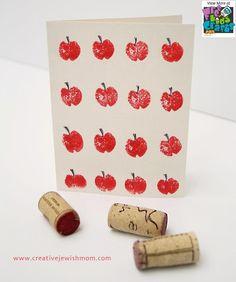 Best Rosh Hashanah Crafts for Kids, Celebrate Rosh Hashana with these Craft projects for Rosh Hashanah holiday. Learn about Rosh Hashana crafts for kids. Kids Crafts, Craft Projects, Family Crafts, Craft Ideas, Wine Cork Crafts, Wine Bottle Crafts, Wine Bottles, Rosh Hashanah Cards, Jewish Crafts