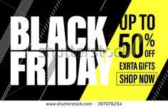 Black Friday Sale Banner.  Black Friday poster. Vector illustration