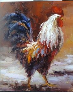 Chicken Paintings | Chicken oil paintings-J05