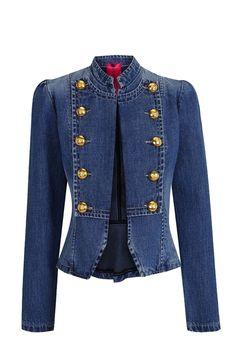 Welcome to La Condesa Denim Fashion, Look Fashion, Womens Fashion, Fashion Trends, Military Chic, Blazers, Types Of Jeans, Denim Romper, Stylish Jackets