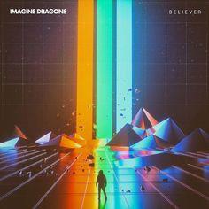 Novità musica: Imagine Dragons - Believer, con testo e video Imagine Dragons Thunder, Imagine Dragons Believer, Imagine Dragons Evolve, Vaporwave, New Retro Wave, Retro Waves, Imaginer Des Dragons, Retro Mode, Canvas Prints