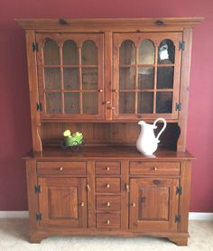 Beautiful Hutch/China cabinet, open. Solid Cherry wood. Made by ...