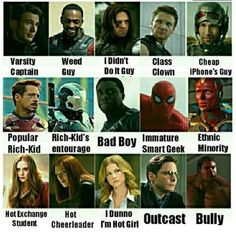 Then Loki is the emo kid nobody pays attention to of the time (aka me) Avengers Memes, Marvel Jokes, Marvel Funny, Marvel Avengers, Marvel Comics, Dc Memes, The Villain, Bucky Barnes, Marvel Cinematic Universe