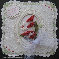 memory box poppy  & spellbinders