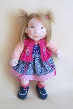 Waldorf Doll, Cloth Doll , Steiner Doll , Handmade Doll, Collectible Doll , Ooak Doll, Soft Sculpture Doll , Baby Doll , Newborn Doll ,Doll by MaryUniqueDoll on Etsy