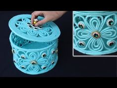 How to make a storage box - Jewellery storage box with woolen and newspaper - Yo. - My Favorites Bag For Women Summer Arts And Crafts, Arts And Crafts For Teens, Art And Craft Videos, Crafts For Seniors, Crafts For Girls, Diy Arts And Crafts, Diy Crafts To Sell, Newspaper Crafts, Paper Crafts For Kids