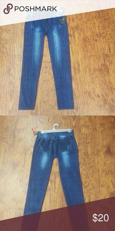 Blue Jean looking  line Jeggings Blue Jean looking  line Jeggings Sizes 1X/2X shosho Pants Leggings