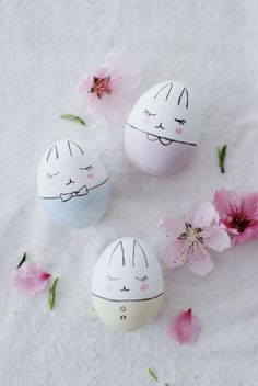 Süße Hasen-Ostereier bemalen crafts for kids to make easter Bunny Easter Eggs DIY Easter Egg Crafts, Easter Eggs, Easter Dyi, Easter Tree, Easter Decor, Easter Egg Designs, Easter Ideas, Diy Ostern, Hoppy Easter