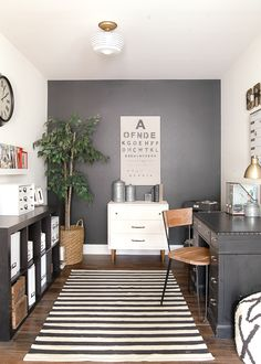HOME TOUR Farmhouse OfficeIndustrial