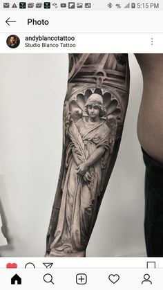 Half Sleeve Tattoos Forearm, Angel Sleeve Tattoo, Forarm Tattoos, Celtic Tattoos, Hot Tattoos, Body Art Tattoos, Tattos, Greek God Tattoo, Medieval Tattoo