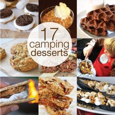 Campfire Desserts - 17 Sweet Camping Desserts A couple of these could be adapted to only be sweetened with honey, pure maple syrup or fruit juice. Then they would fall in to our unprocessed food rules. Camping Desserts, Camping Meals, Camping Recipes, Camping Tips, Camping Cooking, Cook Desserts, Camping Dishes, Camping Stuff, Outdoor Cooking