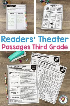 Readers' Theater Passages 3rd GRADE - Use this 132 page pack with your third graders to focus on Readers Theatre. You get a dictionary page, comprehension questions, writing prompts, and more. Great for literacy centers, stations, partner, work, shared reading, fluency groups, and more. Each passage has been professionally leveled by Lexile. You can trust the level, structure, and complexity! #ReadersTheatre #ReadersTheater #Reading #3rdGradeReading Reading Fluency, Guided Reading, Similarities And Differences, Lexile, Readers Theater, 3rd Grade Classroom, 3rd Grade Reading, Shared Reading, Comprehension Questions