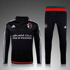 boutique officiel Nouveau Survetement de foot Palestine Noir 2015 2016 pas cher