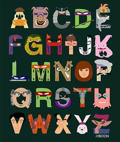 """""""Teenage Mutant Ninja Turtles"""" ABCs by Mike Boon. A is for Ace Duck, B is for Bebop, C is for Chrome Dome."""