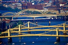 """Pittsburgh is known as """"The City of Bridges""""  446 bridges in the city limits...wow!"""