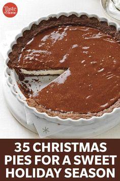 Pie Recipes, Dessert Cake Recipes, Healthy Dessert Recipes, Just Desserts, Sweet Recipes, Cooking Recipes, Eggnog Pie, Christmas Sweets, Christmas Cooking