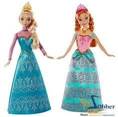 Mattel Movies Frozen Toys Elsa and Anna Dolls Royal Sisters Animated Film Gift #Mattel